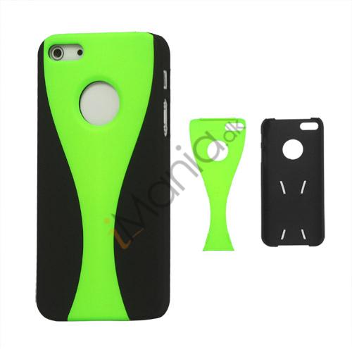 Image of   Aftagelig Goblet Hard Beskyttende Case til iPhone 5 - Sort / Grøn