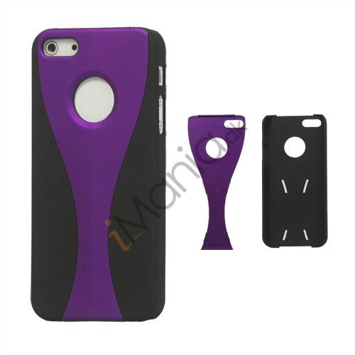 Billede af Aftagelig Goblet Hard Beskyttende Case til iPhone 5 - Sort / Lilla