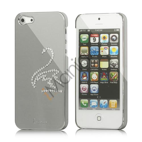 Image of   Svane Cadmieret Diamant Cover Case til iPhone 5 - Sølv