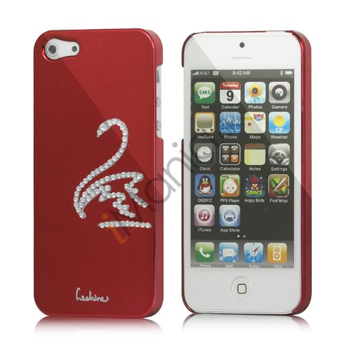 Image of   Svane Cadmieret Diamant Cover Case til iPhone 5 - Vinrød