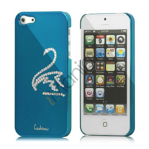 Image of   Svane Cadmieret Diamant Cover Case til iPhone 5 - Capri Blå