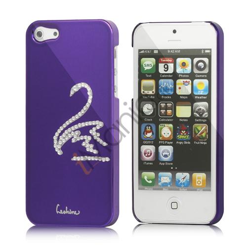 Image of   Svane Cadmieret Diamant Cover Case til iPhone 5 - Violet Lilla