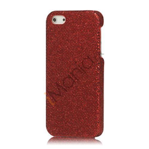 Billede af Skinnende Flash Sequin Hard iPhone 5 cover - Rød