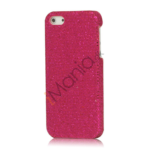 Skinnende Flash Sequin Hard iPhone 5 cover - Rose
