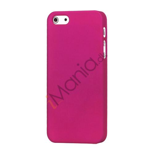 Gummibelagt Mat Hard Back Case til iPhone 5 - Rose