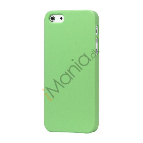Image of   Gummibelagt Mat Hard Back Case til iPhone 5 - Grøn