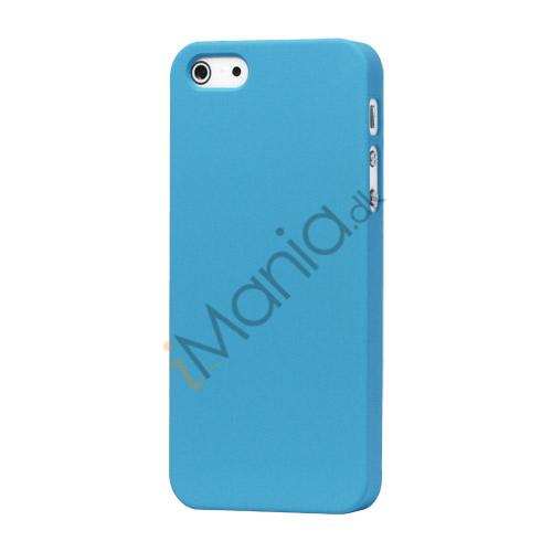 Image of   Gummibelagt Mat Hard Back Case til iPhone 5 - Light Blå