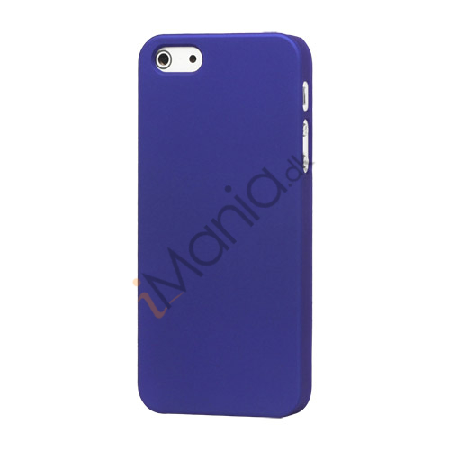 Billede af Gummibelagt Mat Hard Back Case til iPhone 5 - Mørkeblå
