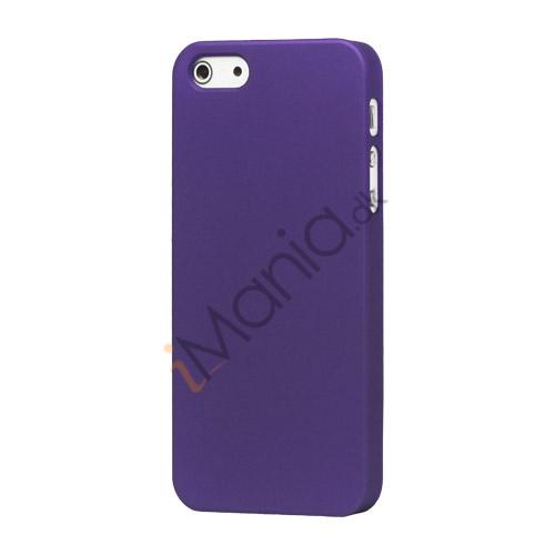 Image of   Gummibelagt Mat Hard Back Case til iPhone 5 - Lilla