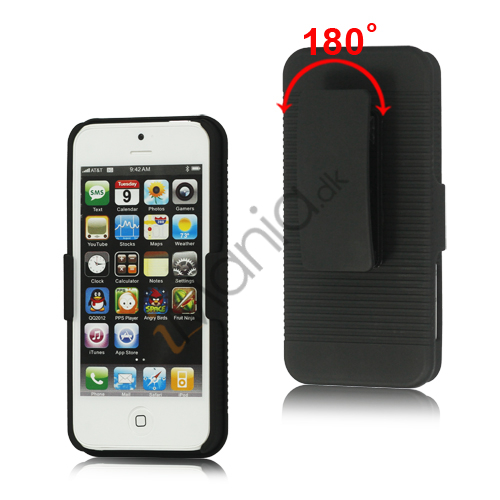 Image of   iPhone 5 Slide Case med Swivel Belt Clip Holster Stand