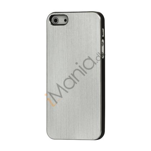 Image of   Børstet Hard Plastic Case iPhone 5 cover - Sølv
