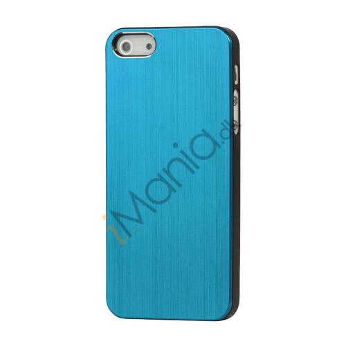 Billede af Børstet Hard Plastic Case iPhone 5 cover - Blå