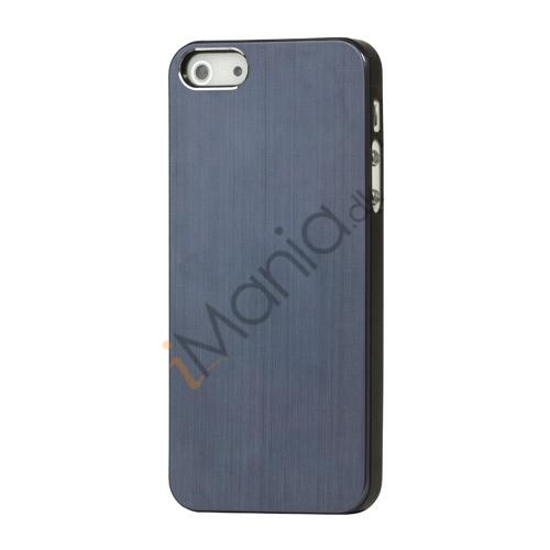 Billede af Børstet Hard Plastic Case iPhone 5 cover - Marineblå