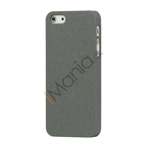 Image of   Frosted Hard Plastic Cover Case til iPhone 5 - Grå