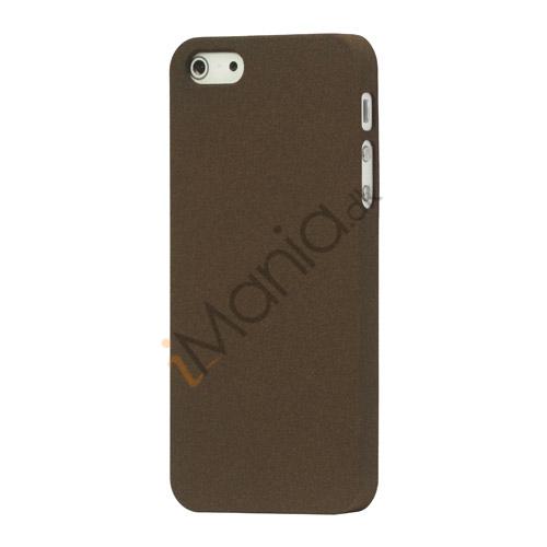 Image of   Frosted Hard Plastic Cover Case til iPhone 5 - Kaffe