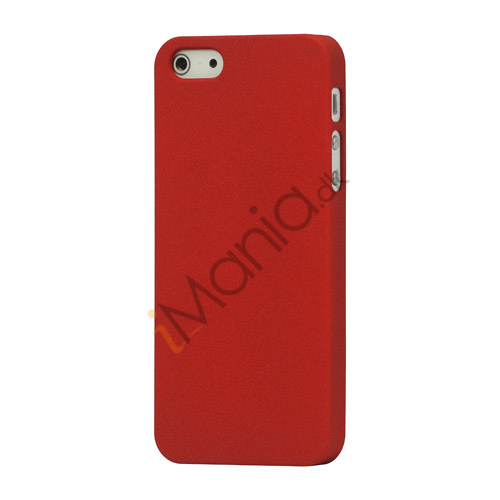 Image of   Frosted Hard Plastic Cover Case til iPhone 5 - Rød
