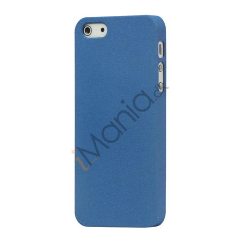 Billede af Frosted Hard Plastic Cover Case til iPhone 5 - Mørkeblå