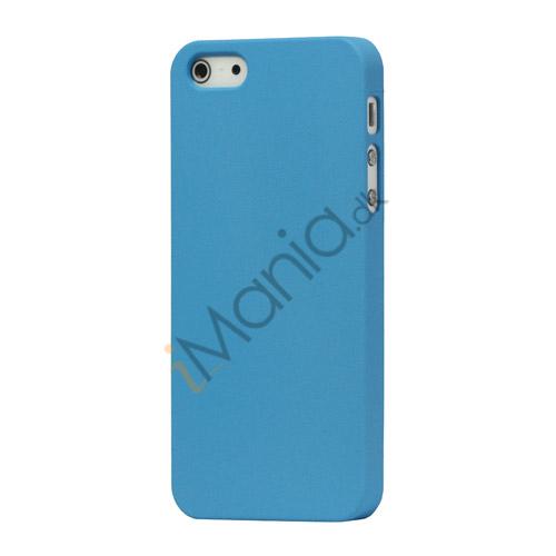 Billede af Frosted Hard Plastic Cover Case til iPhone 5 - Baby Blå