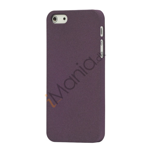 Frosted Hard Plastic Cover Case til iPhone 5 - Lilla