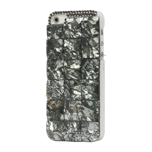 Square Gem Stone Smykkesten Hard Case iPhone 5 cover - Grå