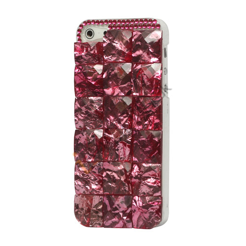 Square Gem Stone Smykkesten Hard Case iPhone 5 cover - Pink