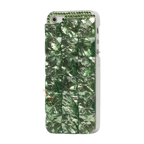Square Gem Stone Smykkesten Hard Case iPhone 5 cover - Grøn
