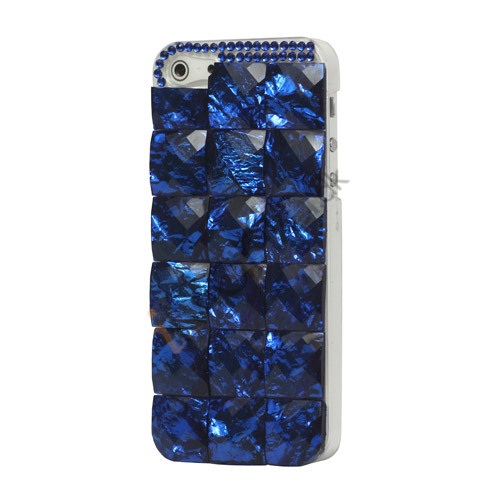 Square Gem Stone Smykkesten Hard Case iPhone 5 cover - Blå