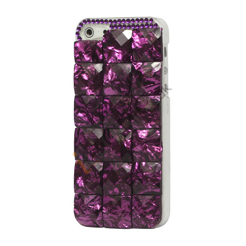 Square Gem Stone Smykkesten Hard Case iPhone 5 cover - Lilla