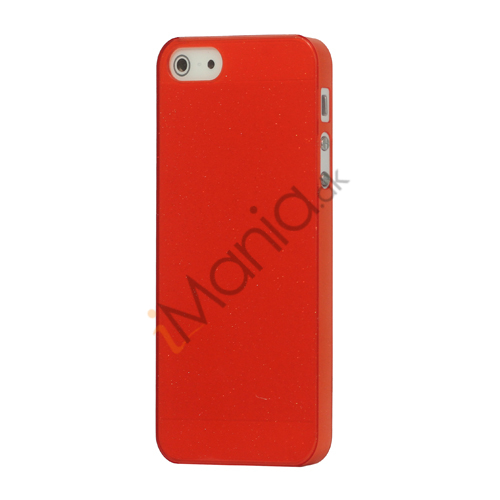 Flash Powder Hard Crystal Case Cover til iPhone 5 - Rød