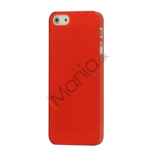 Image of   Flash Powder Hard Crystal Case Cover til iPhone 5 - Rød