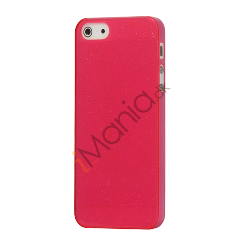 Flash Powder Hard Crystal Case Cover til iPhone 5 - Pink