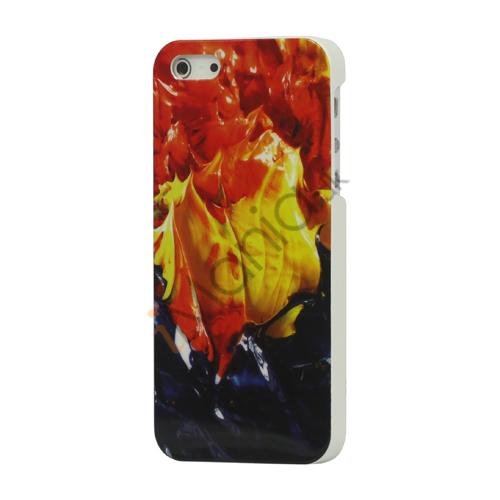 Image of   Glimmer Burning Fire hård plast Case Cover til iPhone 5