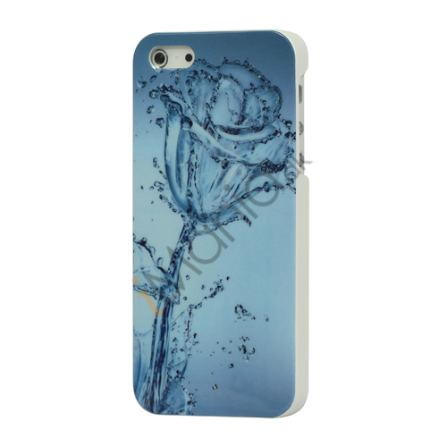 Blå Vand Rose Hard Case Cover til iPhone 5