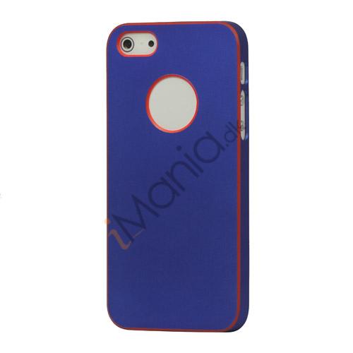 Billede af Gummibelagt hård plast Case iPhone 5 cover - Mørkeblå