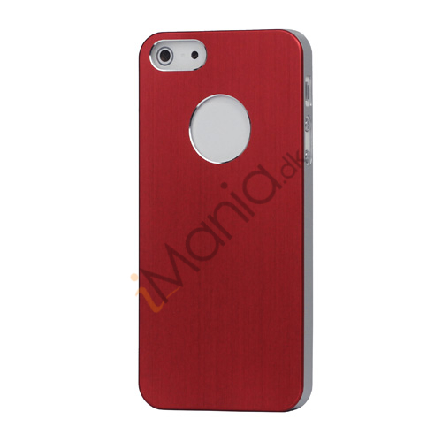 Image of   iPhone 5 Lightweight Børstet Aluminium Beskyttelses Case Cover - Red