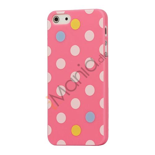 Billede af Farvet Polkaprik Hard Case iPhone 5 cover - Pink