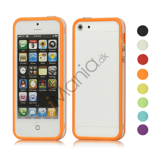 Gennemsigtig Plastic  and  TPU Combo Bumper Case iPhone 5 cover