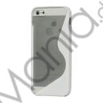 Image of   Populært S-line Plastic and TPU Combo Cover Case til iPhone 5 - Transparent / Hvid