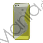 Image of   Populært S-line Plastic and TPU Combo Cover Case til iPhone 5 - Transparent / Gul