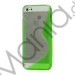 Image of   Populært S-line Plastic and TPU Combo Cover Case til iPhone 5 - Transparent / Grøn