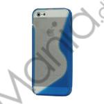 Image of   Populært S-line Plastic and TPU Combo Cover Case til iPhone 5 - Transparent / Blå