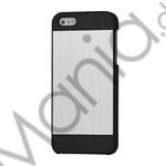 Billede af Deluxe Børstet Metal Hard Beskyttelses Case iPhone 5 cover - Sort / Silver