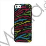 Billede af Farverige Zebra Snap-On Hard Case iPhone 5 cover
