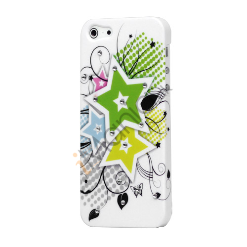 Image of   Stars Smykkesten Gummibelagt Hard Case til iPhone 5