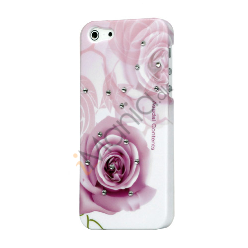Pink Rose Smykkesten Hard Case iPhone 5 cover
