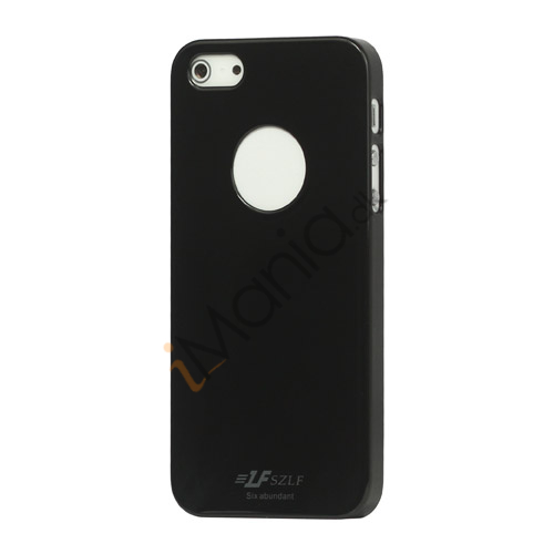 Højglans Plastic Cover Case til iPhone 5 - Sort