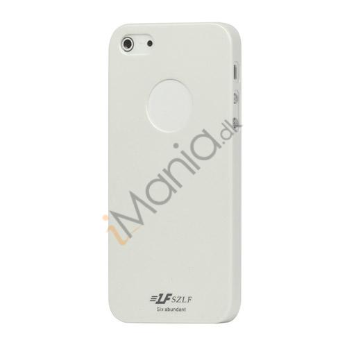 Højglans Plastic Cover Case til iPhone 5 - Hvid