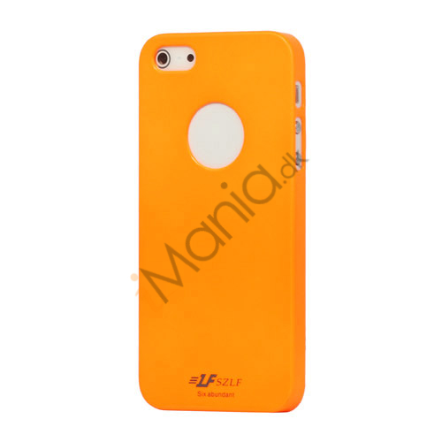 Højglans Plastic Cover Case til iPhone 5 - Orange