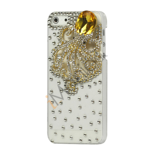 Luksus 3D Squid Diamond Crystal Case iPhone 5 cover