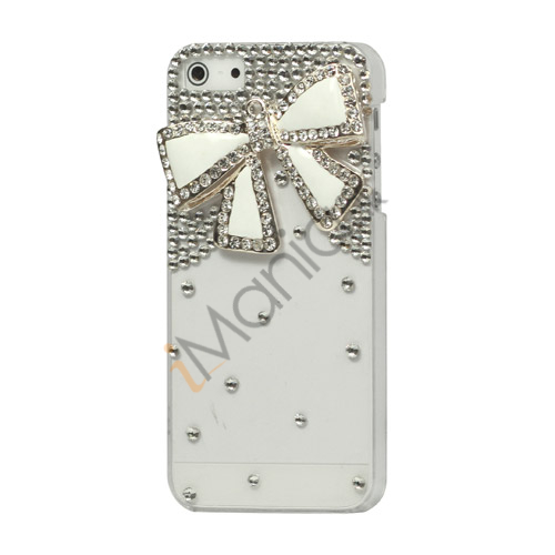 Glitrende Smykkesten 3D Bowknot Crystal Case iPhone 5 cover